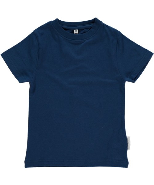 Maxomorra Short Sleeve Top Basic Dark Blue (68cm)